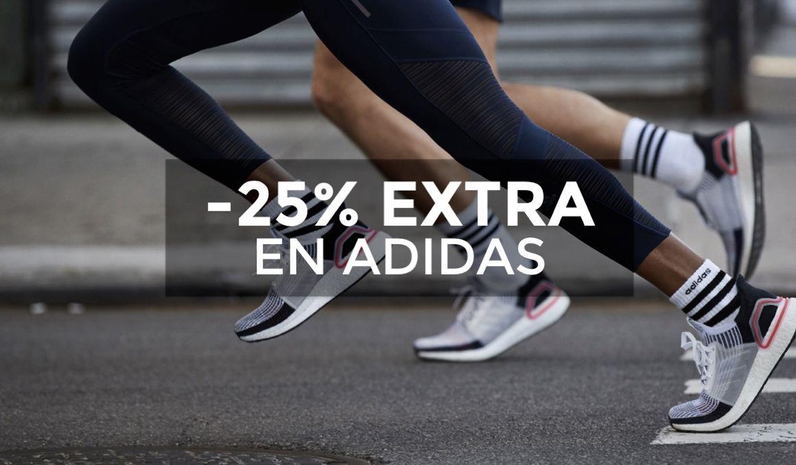 oficial Automático Geometría  25% extra en la web de adidas: Ultraboost 19 por 94€