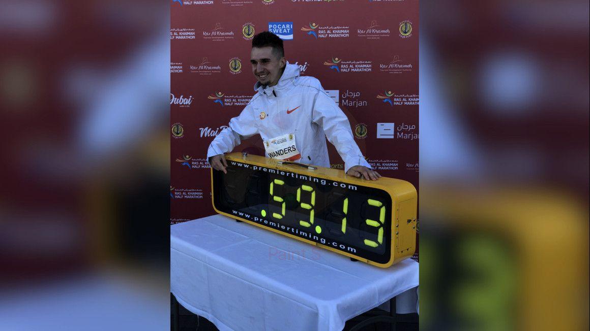 Julien Wanders le quita el récord de Europa de medio maratón a Mo Farah