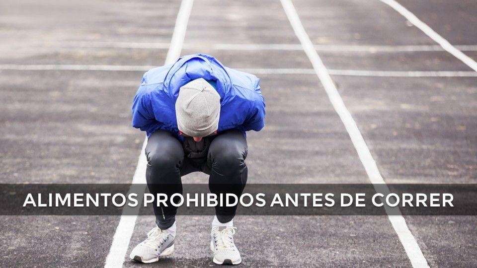 4 alimentos prohibidos antes de correr