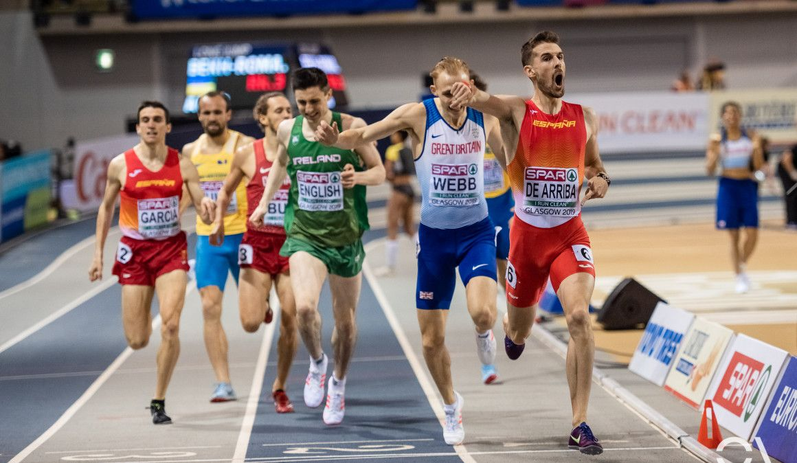 Álvaro de Arriba, campeón de Europa de 800 metros en Glasgow