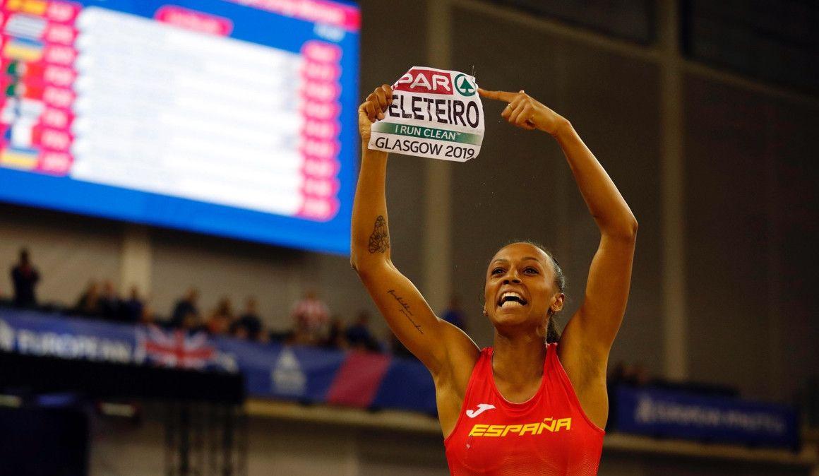 Pedro Sánchez felicita a Ana Peleteiro por el oro europeo de triple salto