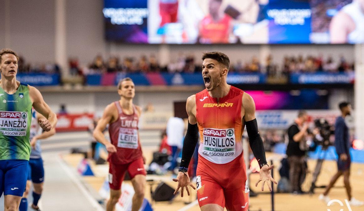 Óscar Husillos medalla de plata en el Europeo Glasgow 2019