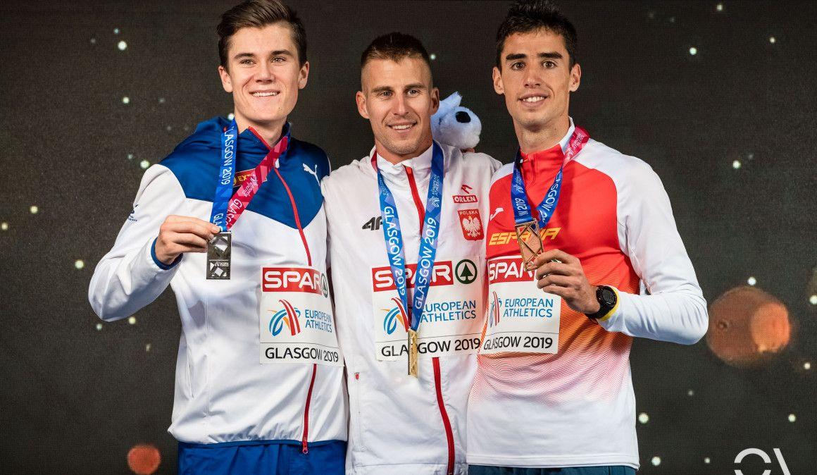 Jesús Gómez, bronce en 1.500 en una carrera en la que Lewandowski derrotó a Ingebrigtsen