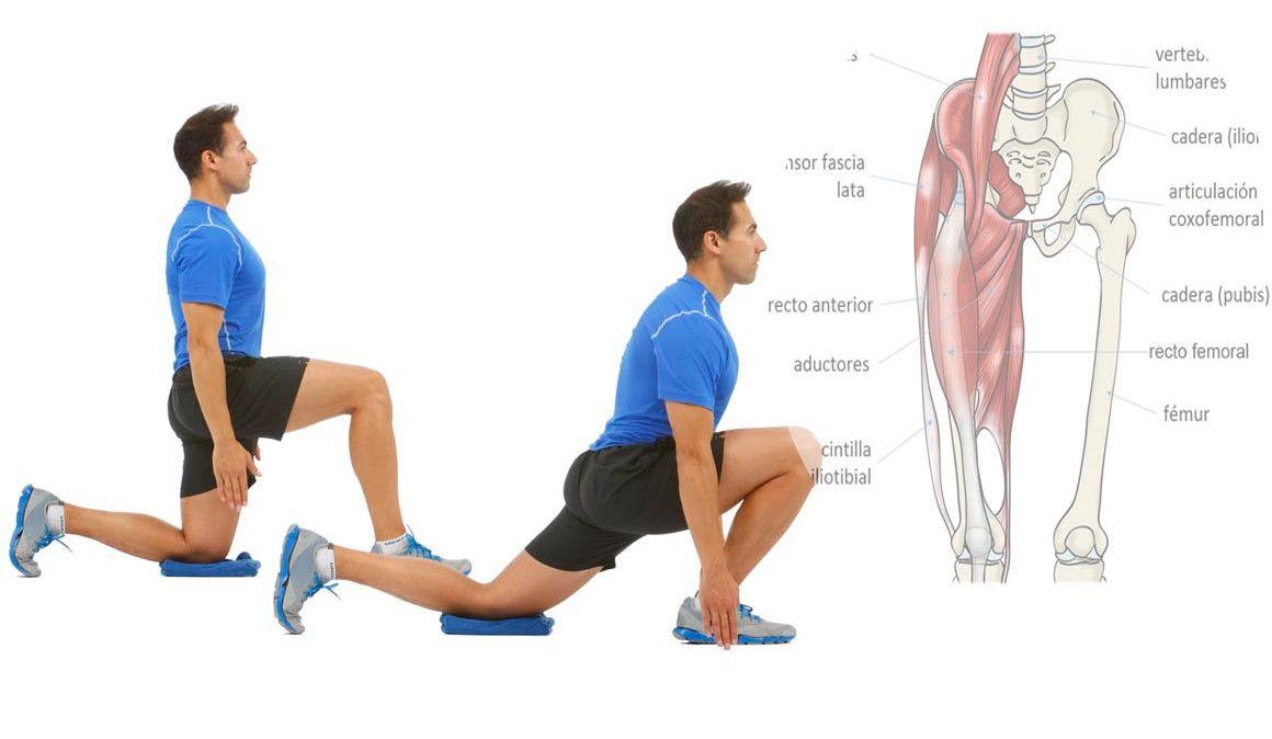 Estirar los flexores de la cadera