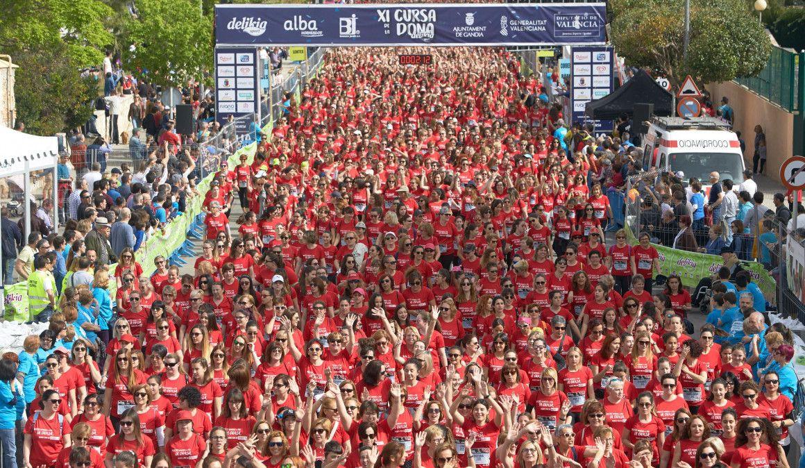 La gran fiesta del running femenino en Gandía