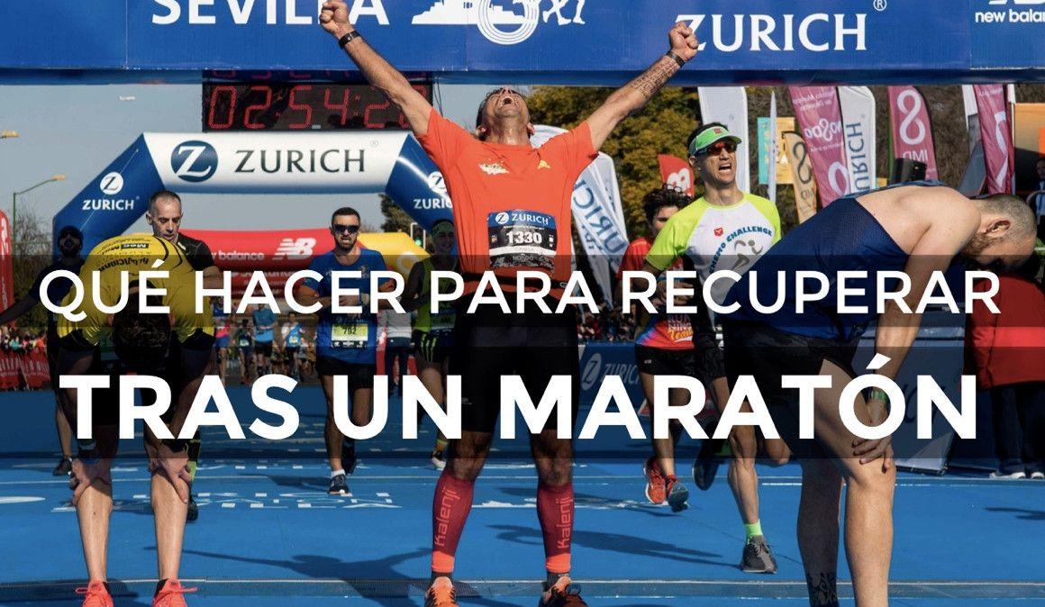 Qué hacer tras cruzar la meta de un maratón para recuperarte