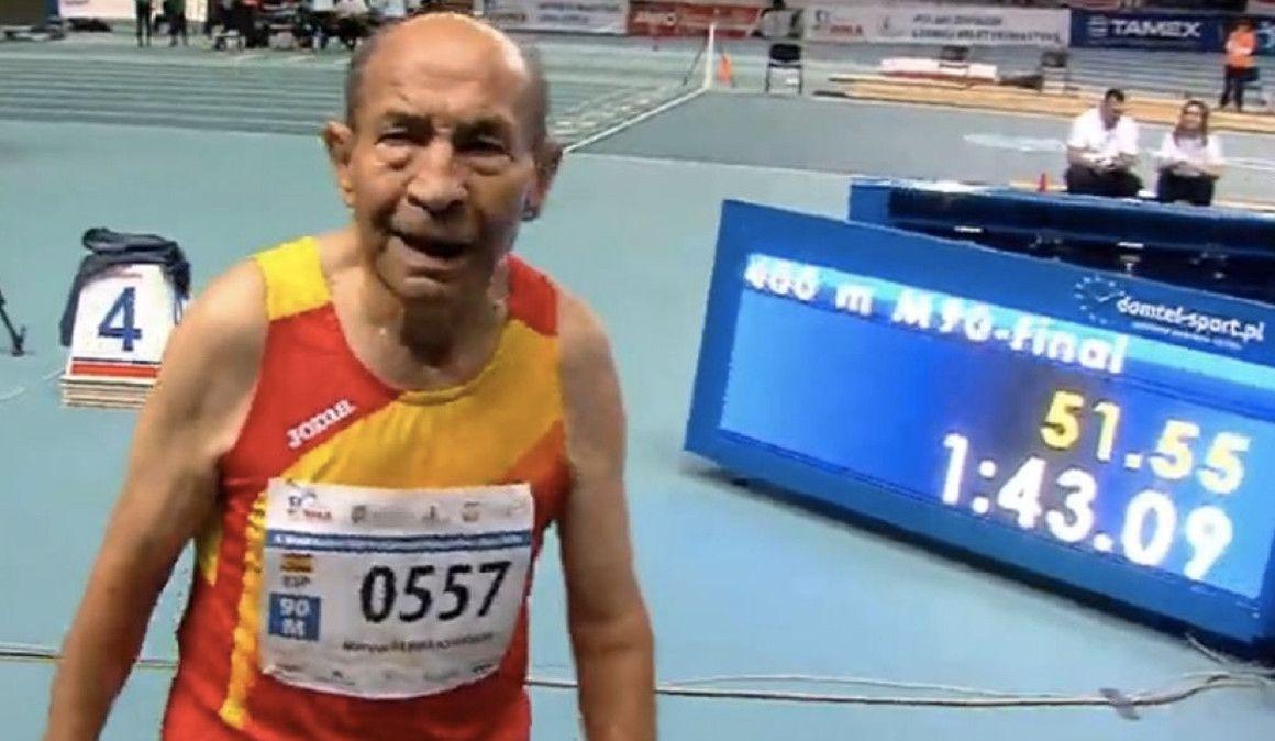 90 años, 400 metros y un récord del mundo