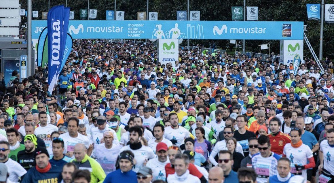 Kiprono, con récord de la prueba, y Teshome ganadores en el Movistar Medio Maratón de Madrid