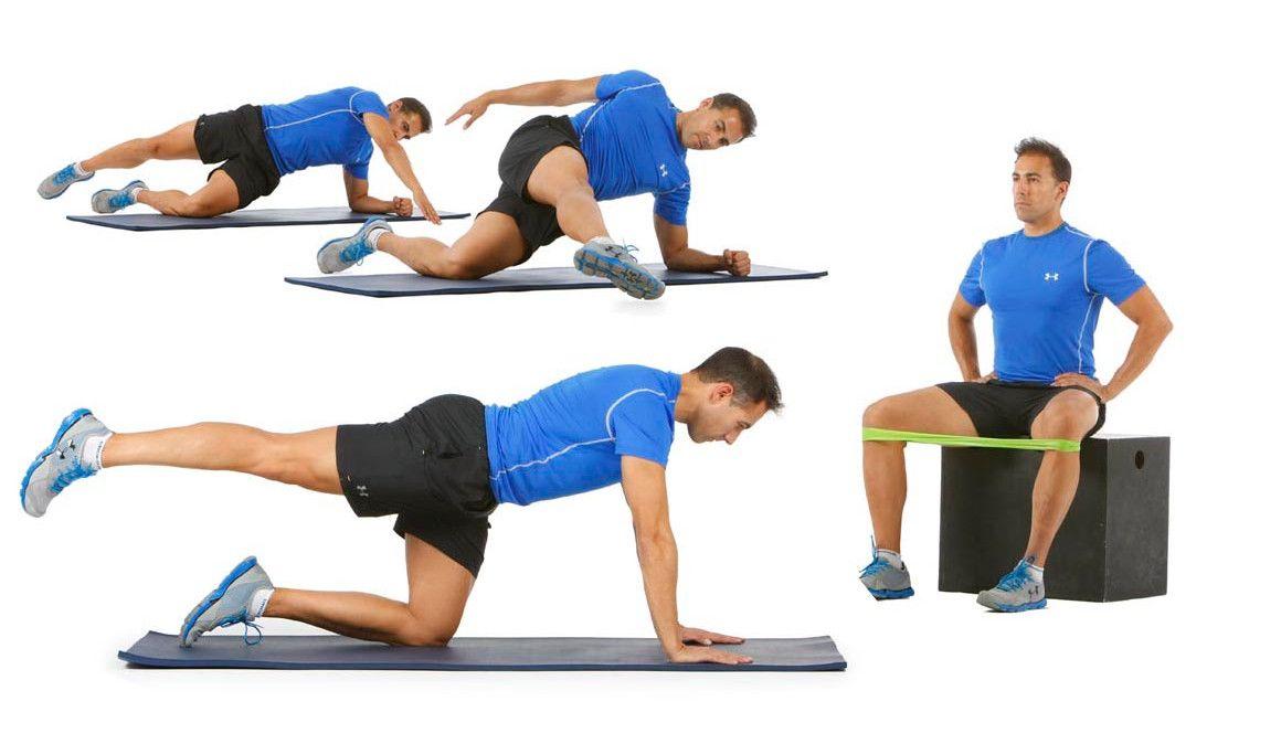 Plancha prono y lateral (glúteo medio)