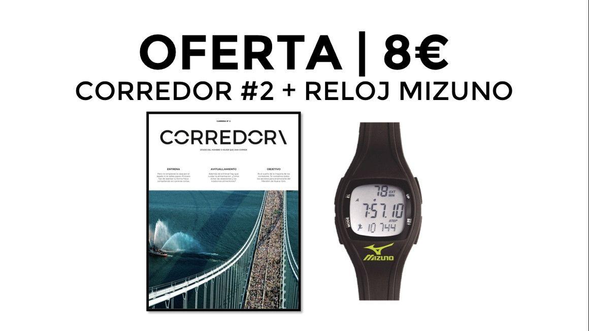 OFERTA: CORREDOR\ #2 y un reloj Mizuno por solo 8€