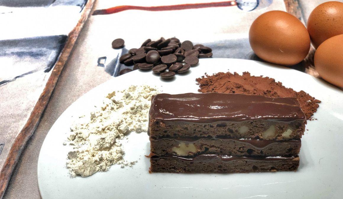Bizcocho de chocolate, sano a la vez que delicioso