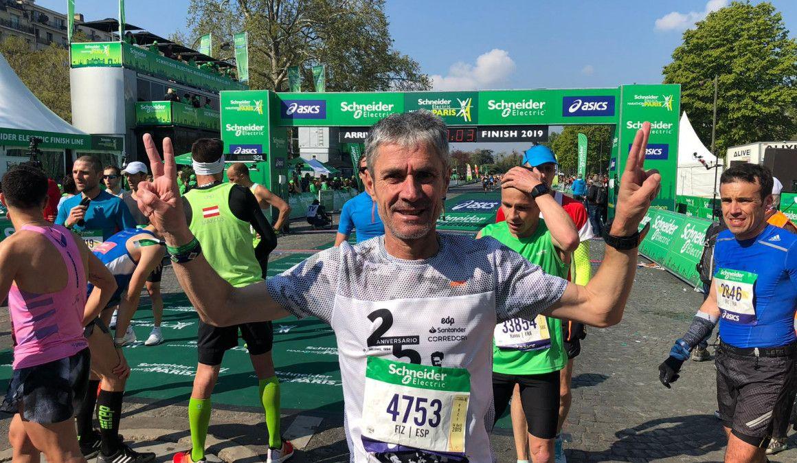 Martín Fiz, récord de España M55 en el Maratón en París