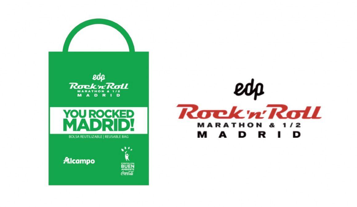 Adiós a las bolsas de plástico en el EDP Rock 'n' Roll Madrid Maratón & ½