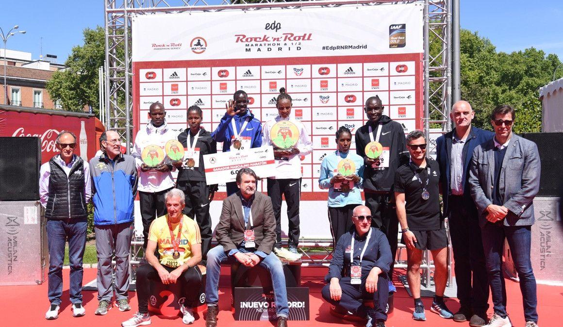 Los africanos destrozan los récords en el EDP RnR Madrid Maratón