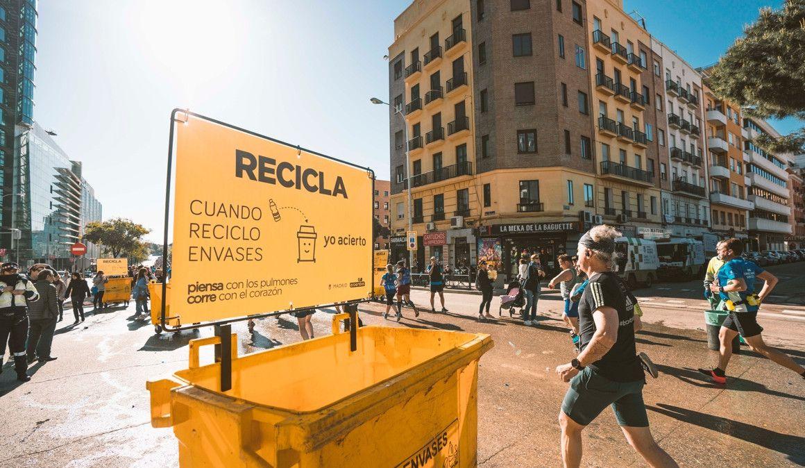 El Maratón de Madrid recicló 7,2 toneladas de plástico