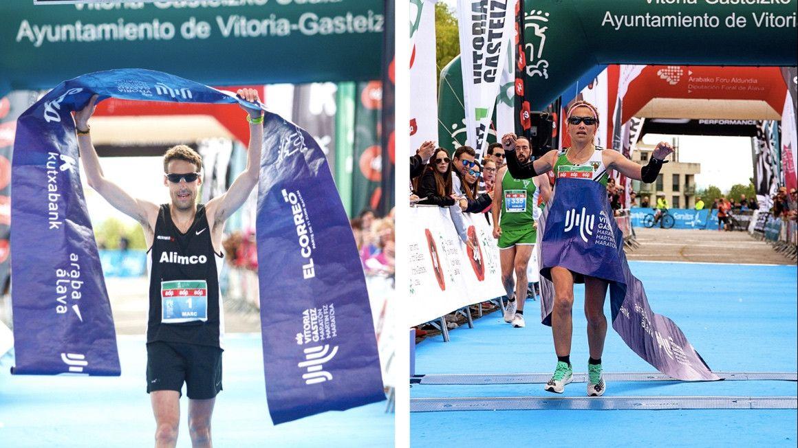 Marc Hurtado y Sara Trelles se llevan el EDP Vitoria-Gasteiz Maratón Martín Fiz