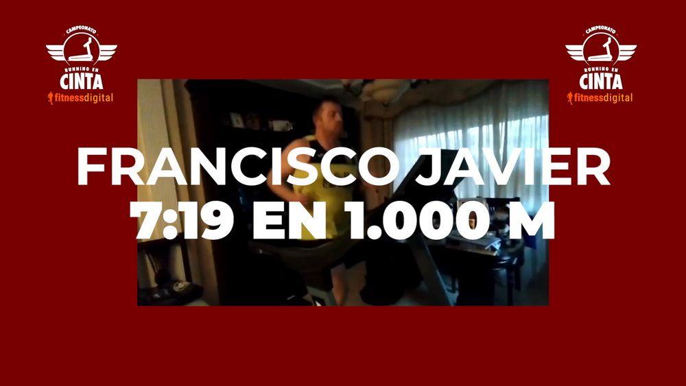 Francisco Javier Ortega demuestra que el Campeonato de Running en Cinta fitnessdigital es para todos