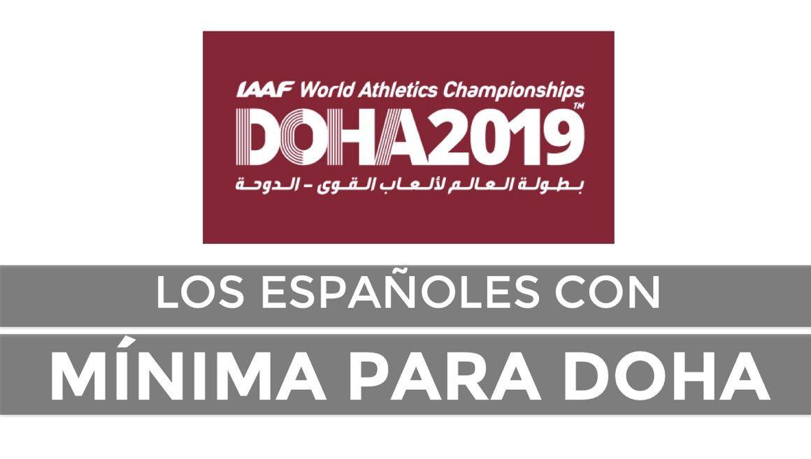 Estos son los españoles con mínima para Doha
