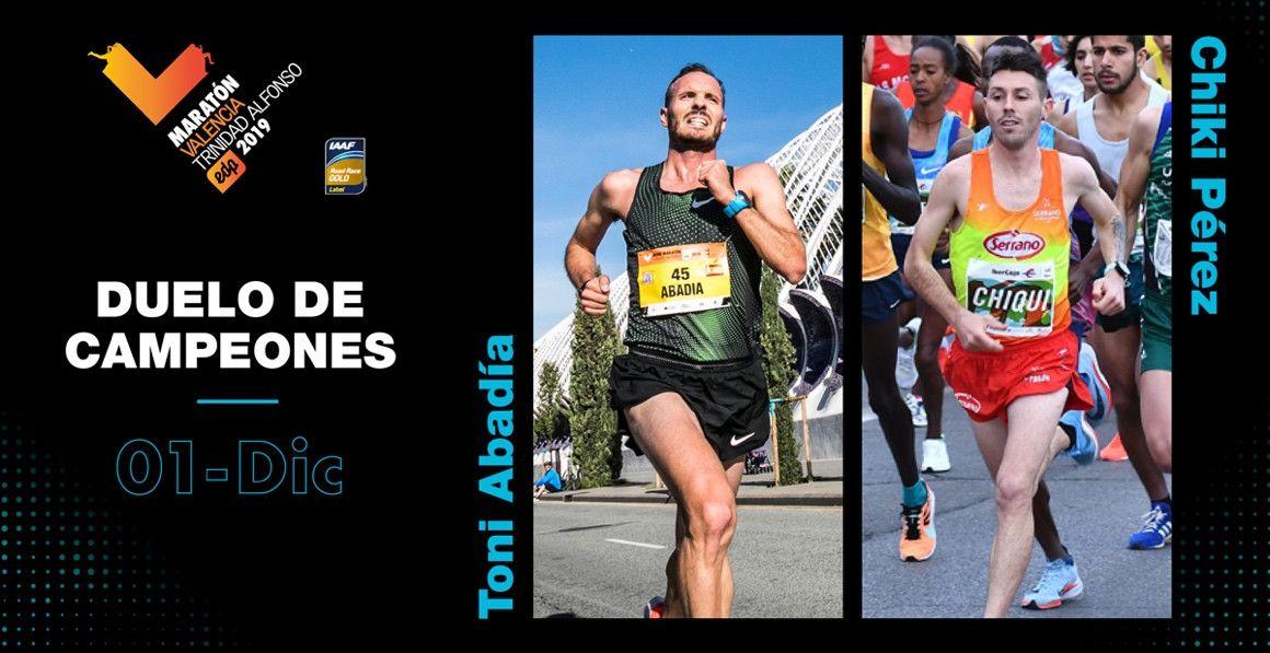 Toni Abadía y Chiki Pérez debutarán en maratón en Valencia