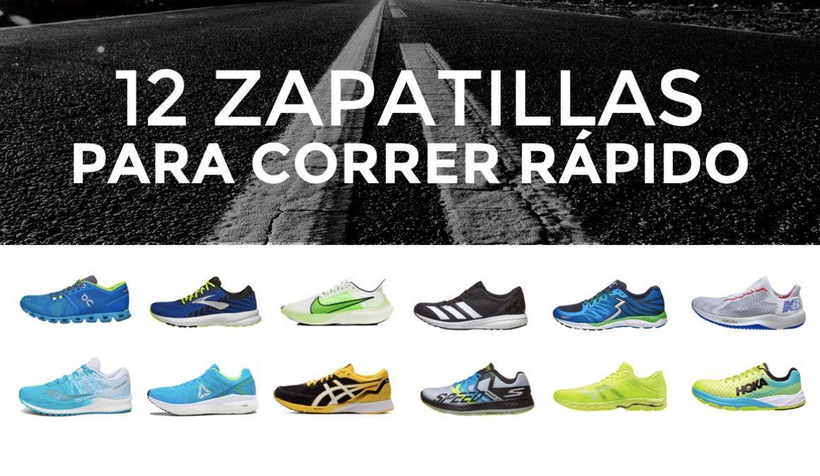 12 zapatillas para correr rápido