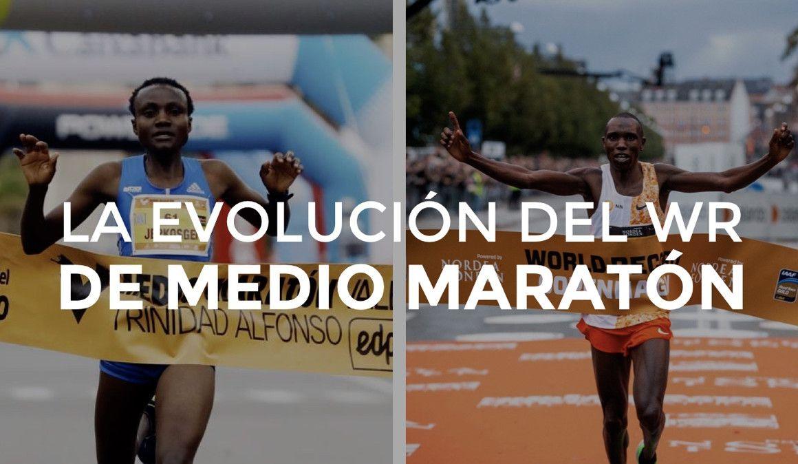 La evolución del récord del mundo de medio maratón