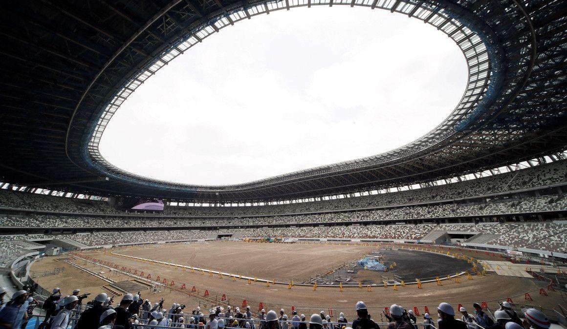 Así evoluciona la construcción del Estadio Olímpico de Tokio
