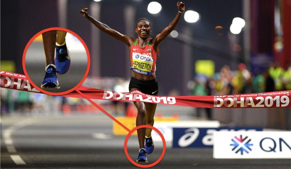 Las zapatillas de las 5 mejores del maratón de Doha