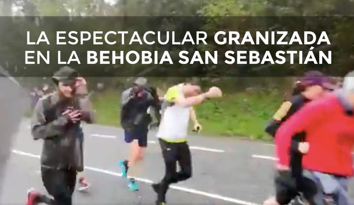 VÍDEO | La espectacular granizada en plena Behobia
