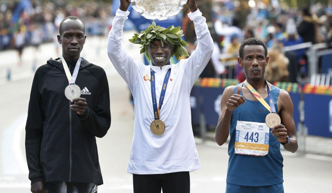 Se paga la inscripción del Maratón de NY y finaliza tercero