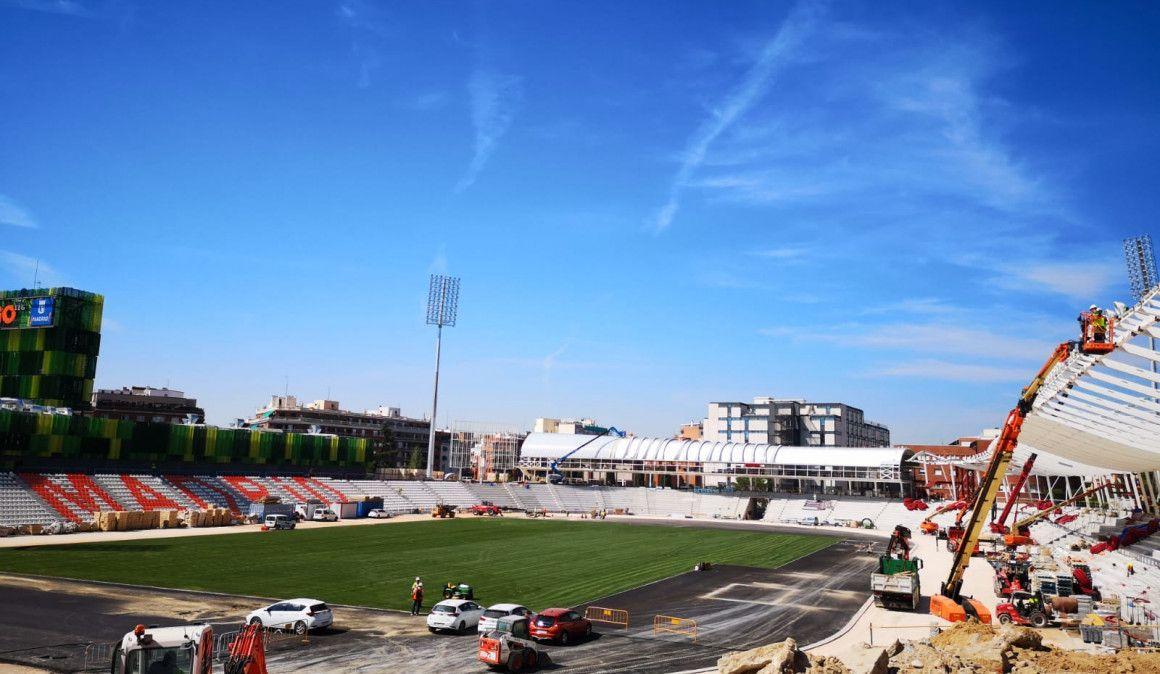 El Estadio de Vallehermoso ultima su reapertura