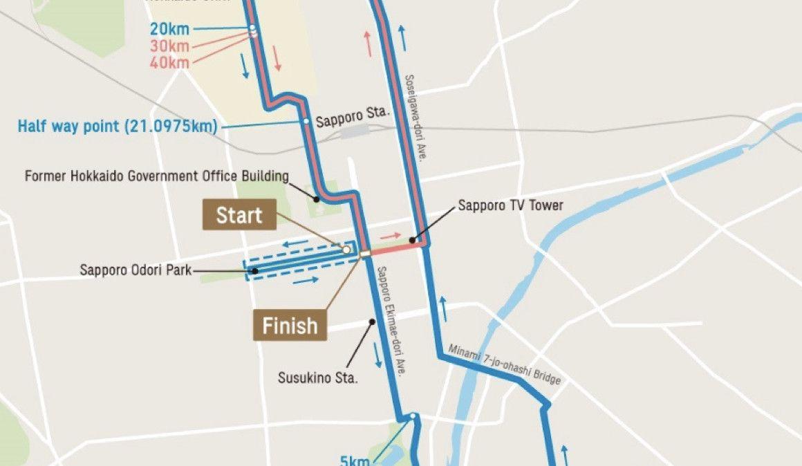 Decidido el recorrido del maratón olímpico de Sapporo