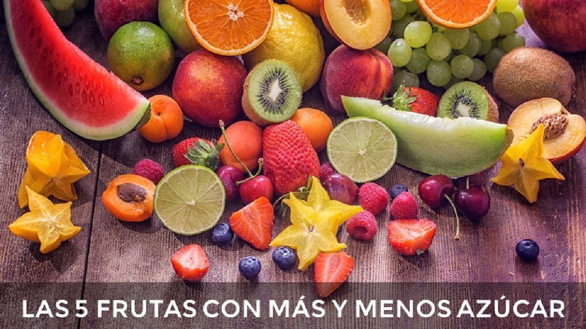 Las 5 frutas con más y menos azúcar