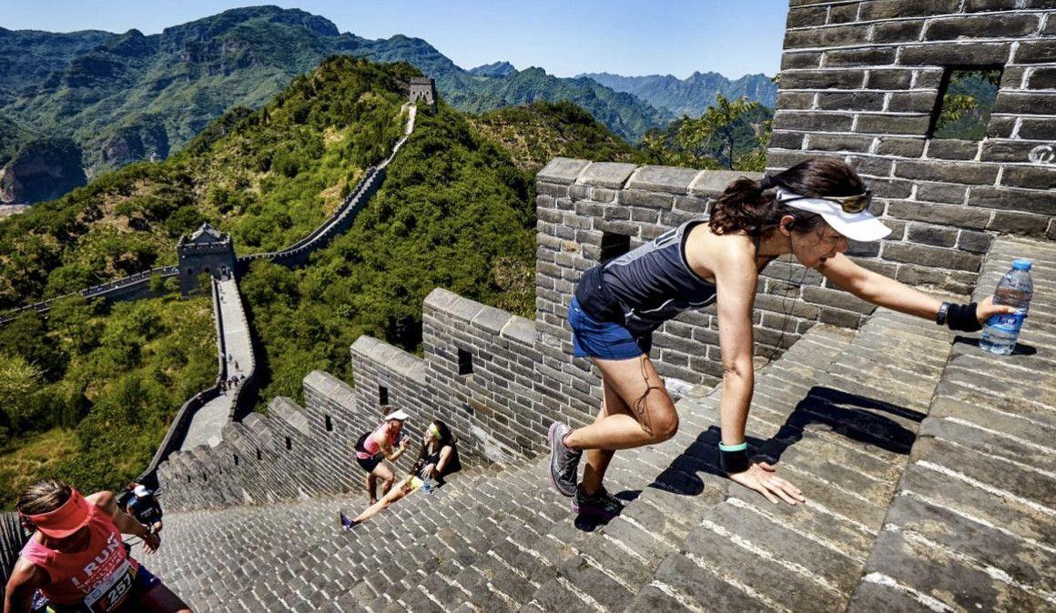 Un maratón en la Gran Muralla China