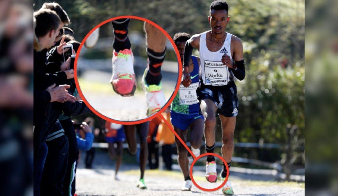 El despiste del ganador del Cross de Elgoibar con sus zapatillas