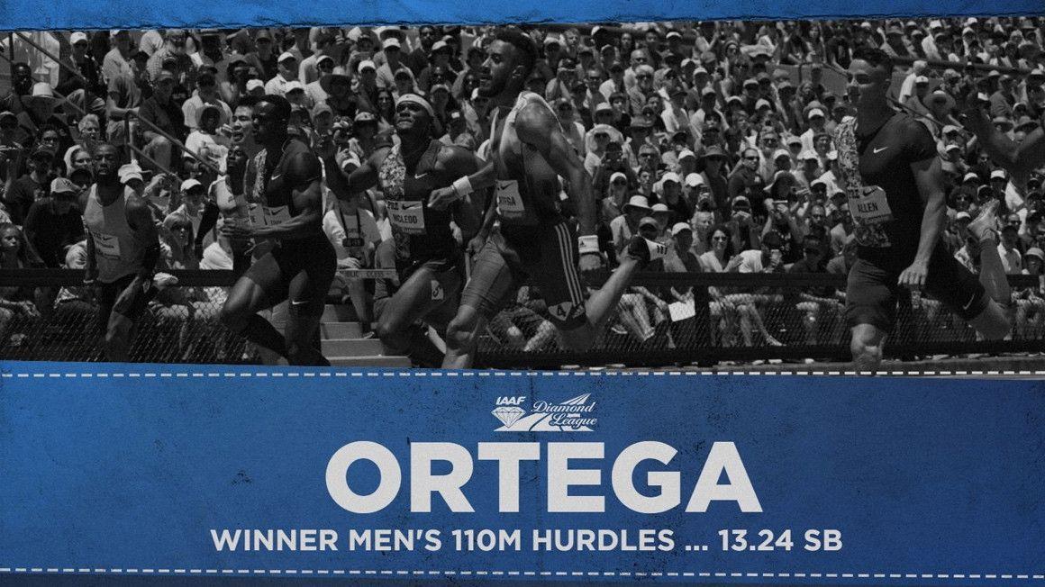Así fue la victoria de Orlando Ortega en el Prefontaine Classic