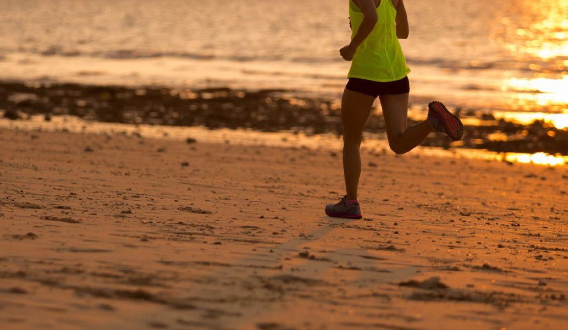 La playa no es una buena opción para correr