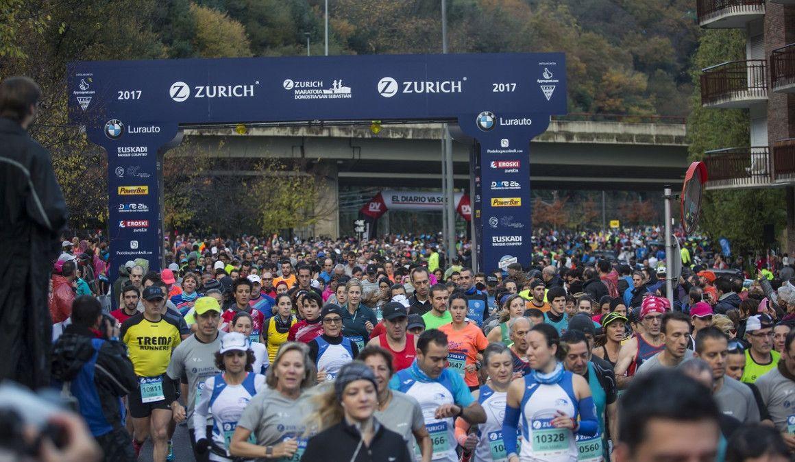 50 dorsales para el Zurich Maratón de San Sebastián a vuestra disposición