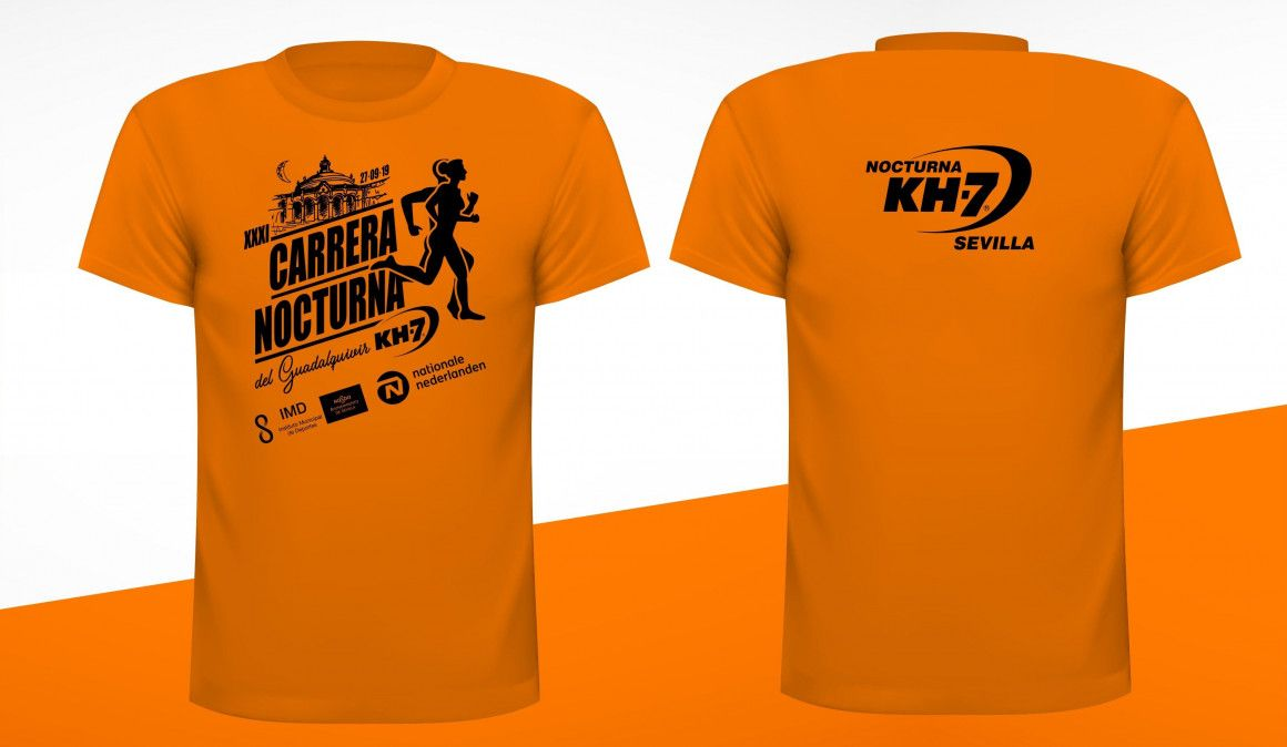 Esta es la camiseta de la Carrera Nocturna del Guadalquivir