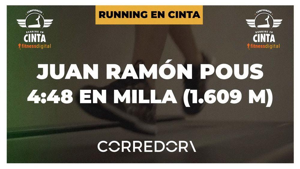 El campeón del mundo Juanra Pous corre una milla en cinta en 4:48, la máxima velocidad de su máquina