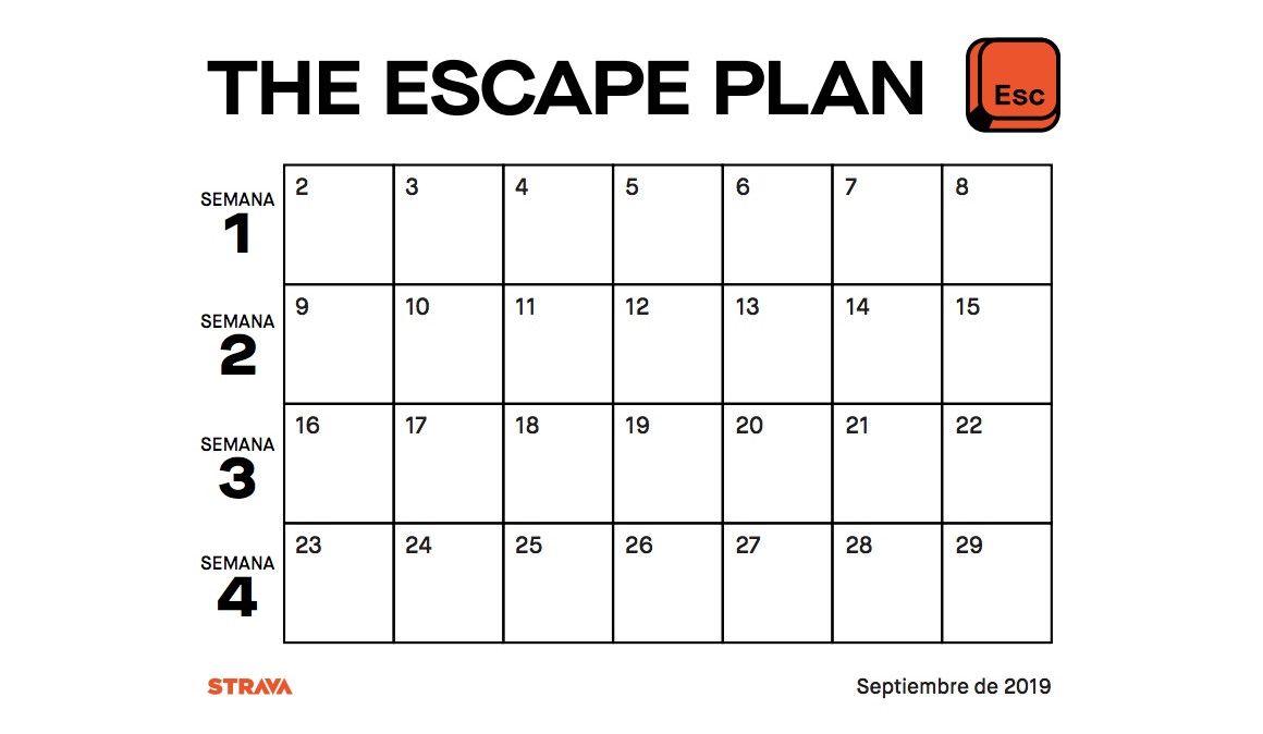 """""""The Escape Plan"""": La nueva propuesta de Strava para mantenerse activo"""