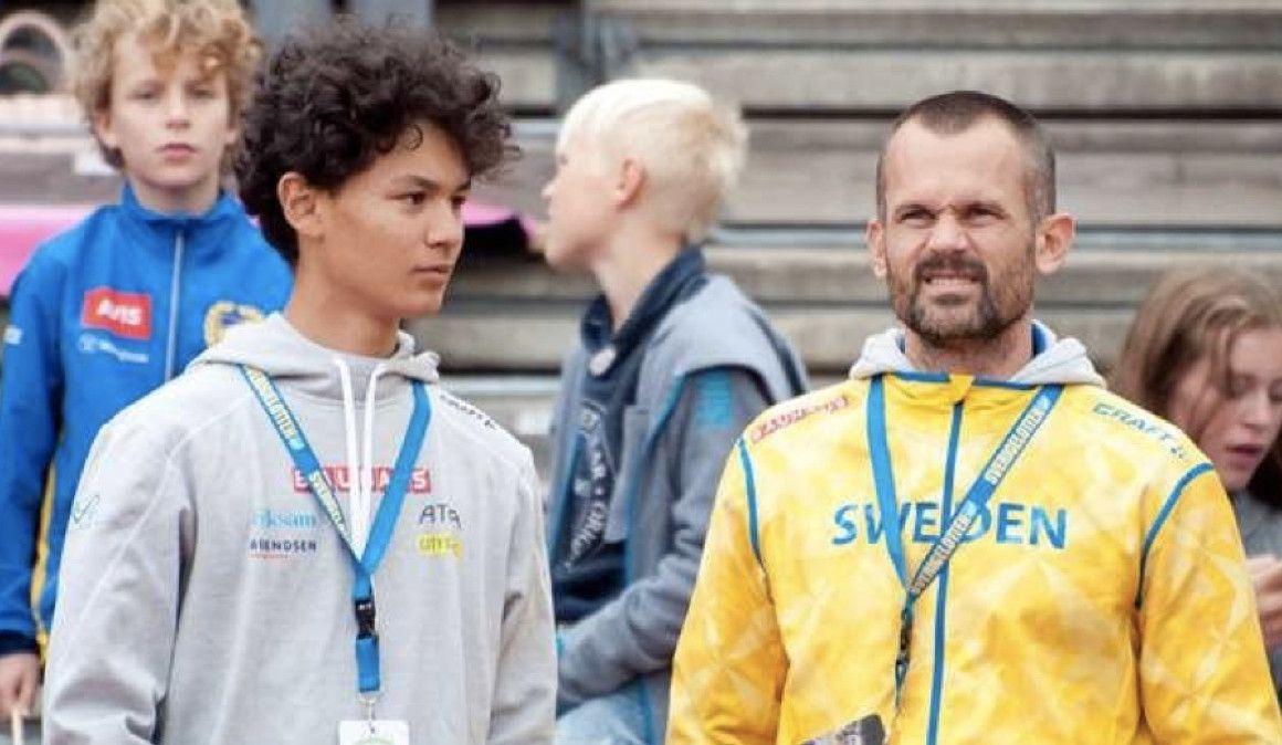 El hijo de Stefan Holm, 2.09 m con 14 años