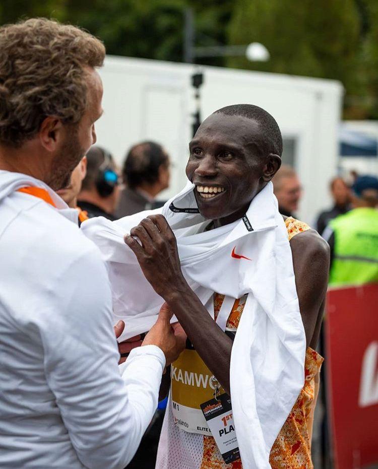 El récord del mundo de Geoffrey Kamworor en imágenes