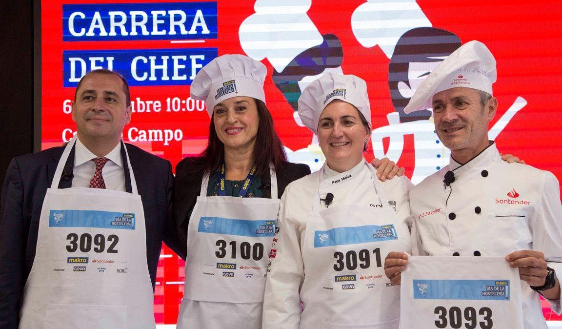 La carrera del chef...¡con dorsal en el delantal!