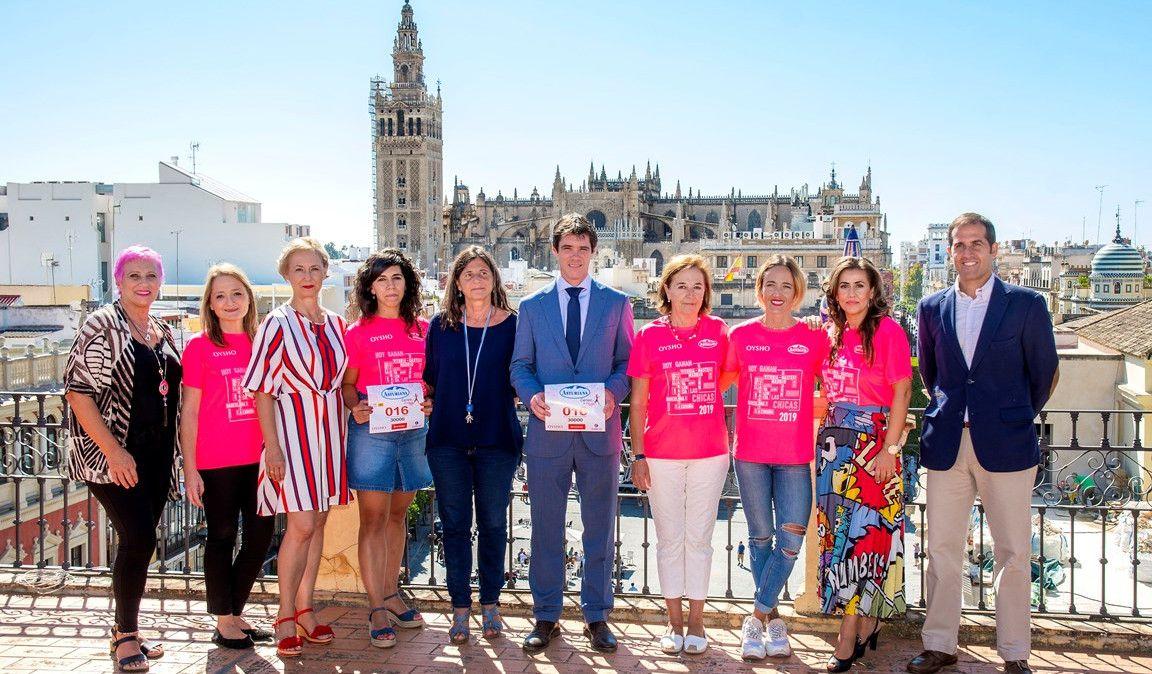 10.000 corredoras se suman a la Marea Rosa de la Carrera de la Mujer de Sevilla este domingo