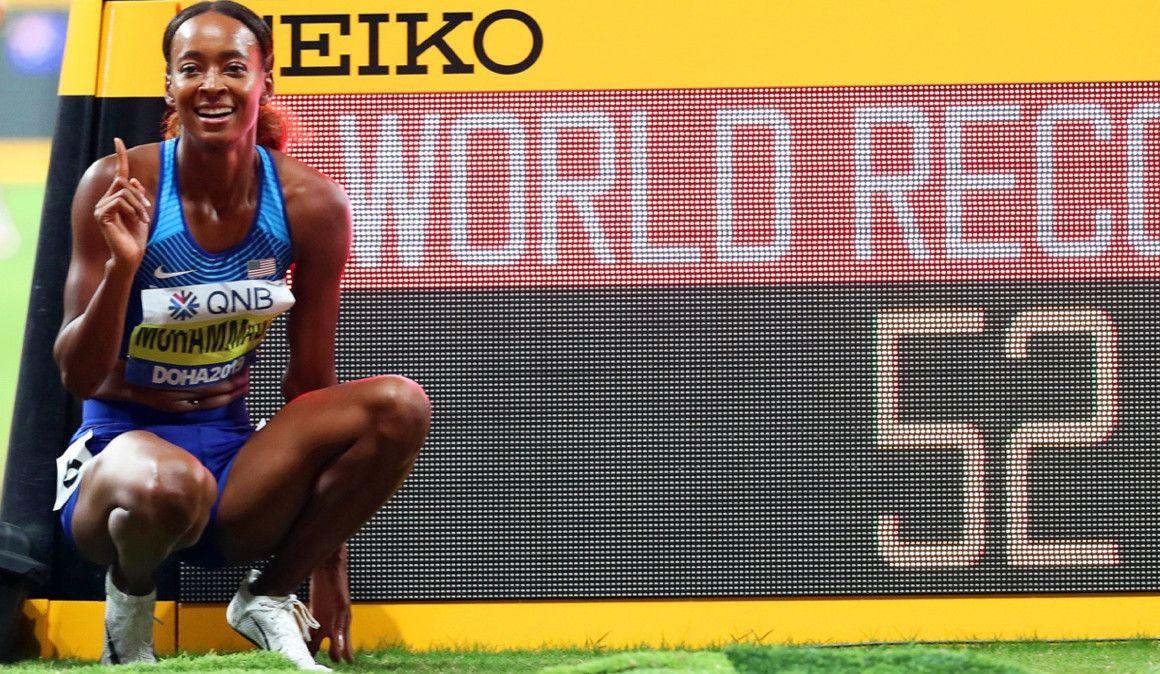 ¡Muhammad bate el récord del mundo de 400 mv en Doha!