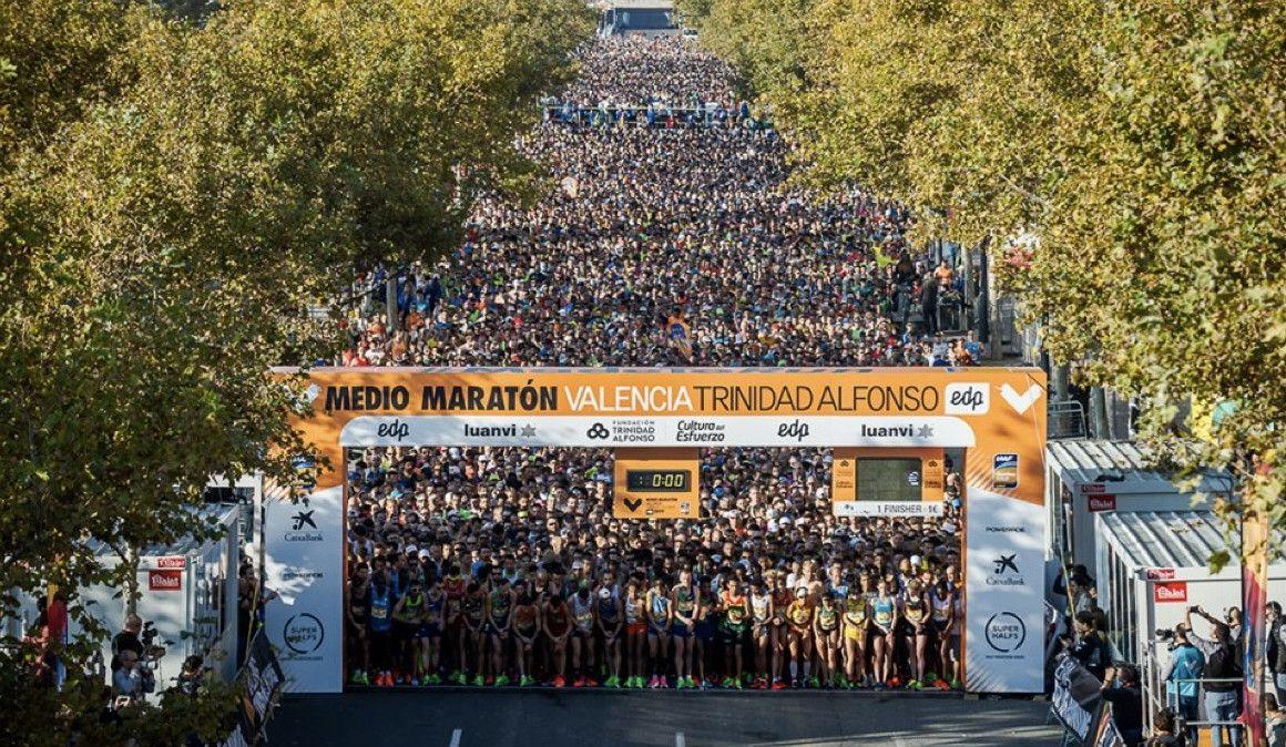 Dos corredores se pelearon en pleno Medio Maratón de Valencia