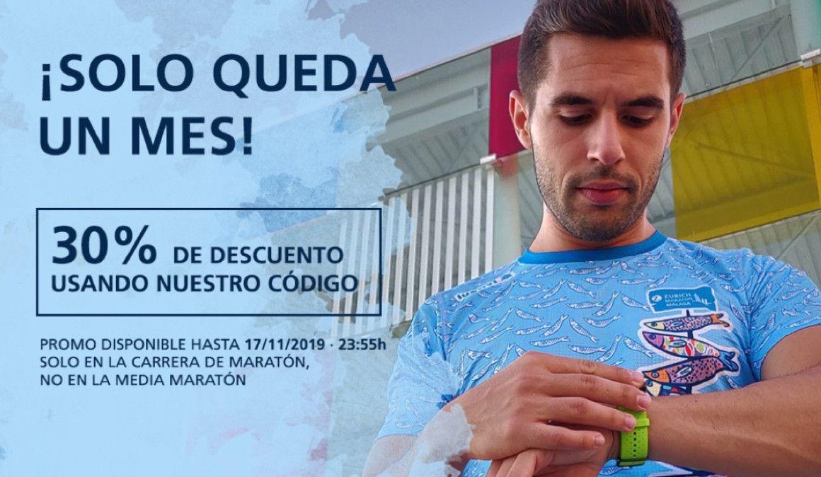 Inscríbete al Maratón de Málaga con un 30% de descuento