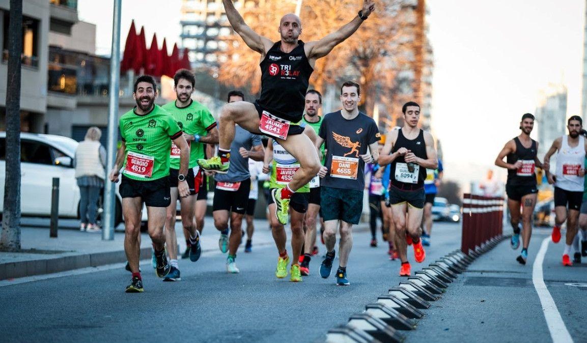 La carrera de Nochevieja en Barcelona