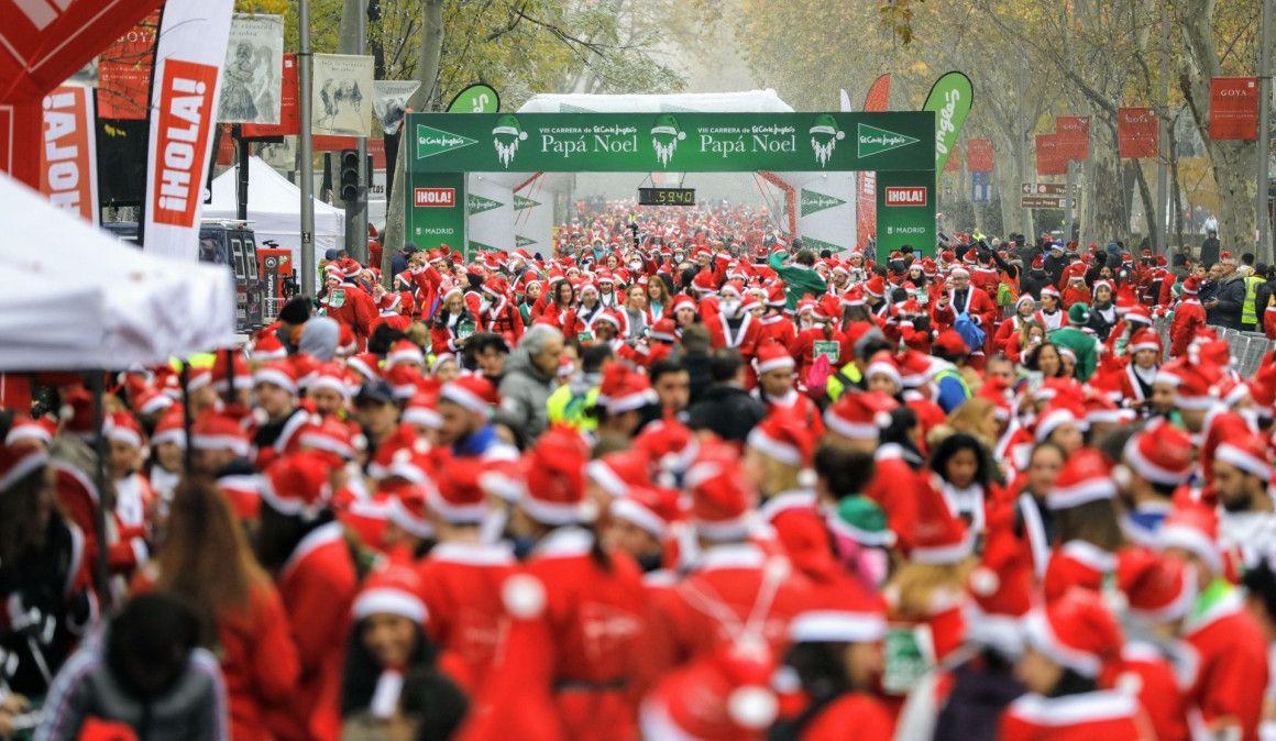 Arranca la Navidad en Madrid con la Carrera de El Corte Inglés Papá Noel 2019