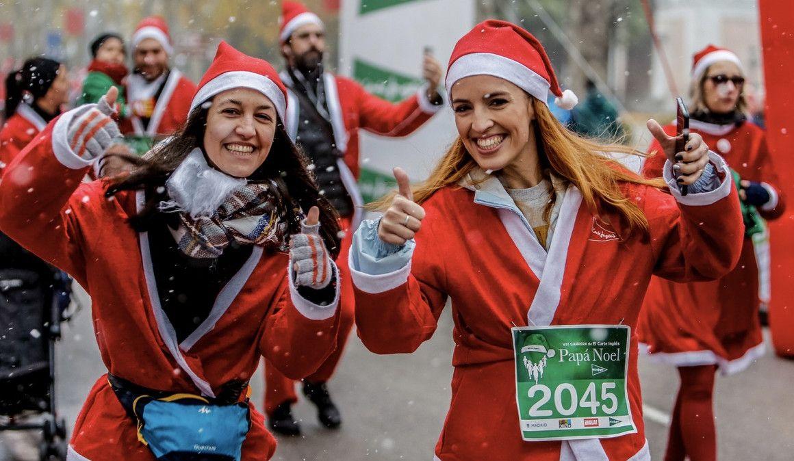 La primera Carrera de Papá Noel de Cataluña